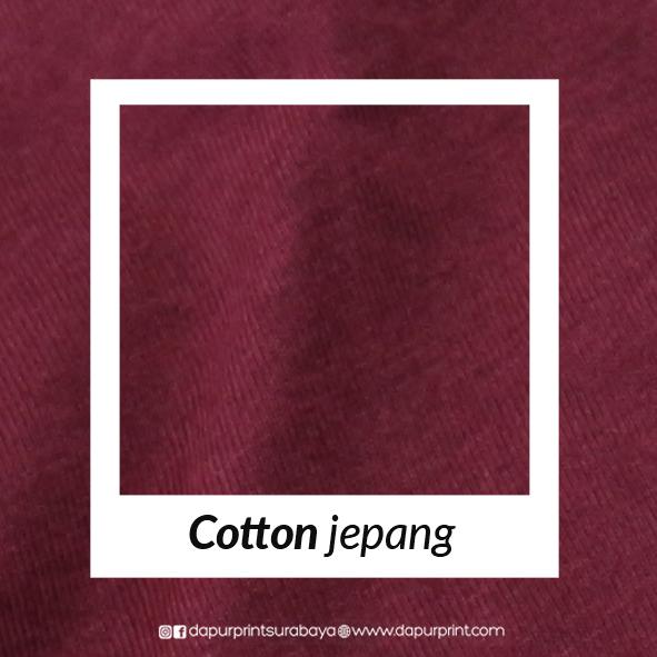 Jenis Katun Yang Terbuat Dari 100 Full Cotton Dan Tidak Ada Campuran Bahan Sintetis Lainnya Jepang Memiliki Texture Permukaan Kaos Lebih